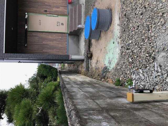 浄化槽周辺の土を地盤改良