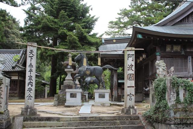 一宮神社。城址の麓です。